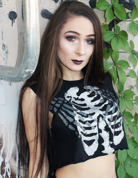 Skeleton Crop Tank