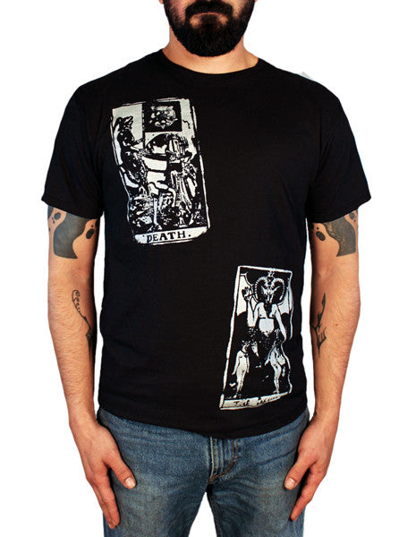 death & devil tarot men's t-shirt