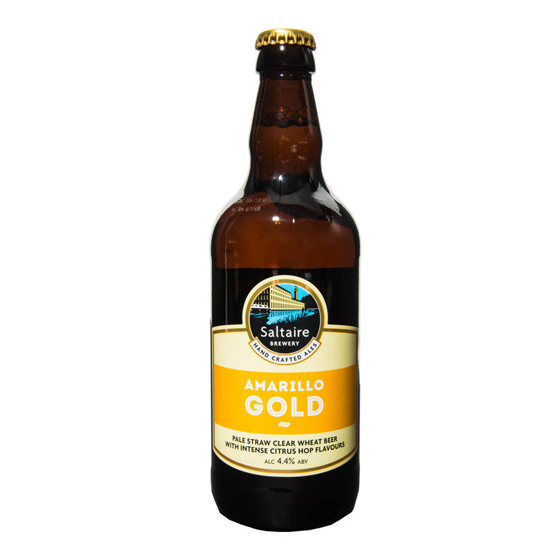 Gold British Clear Wheat Beer Saltaire Bottle
