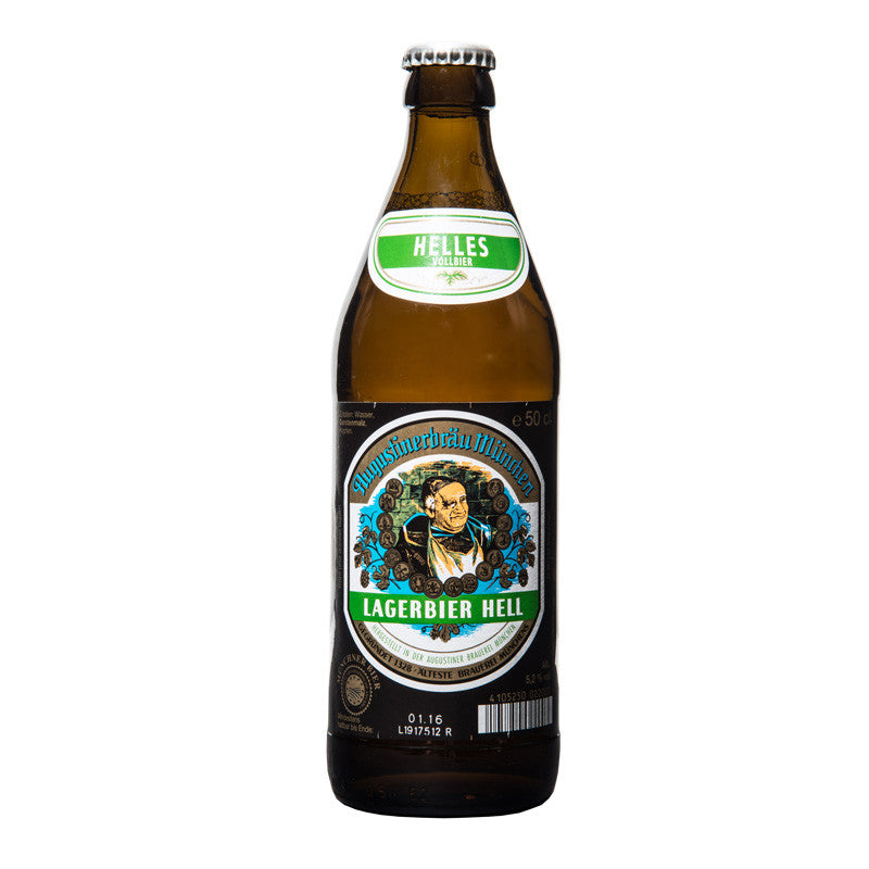 Augustiner, Lagerbier Hell, German Lager, 5.2%, 500ml - The Epicurean