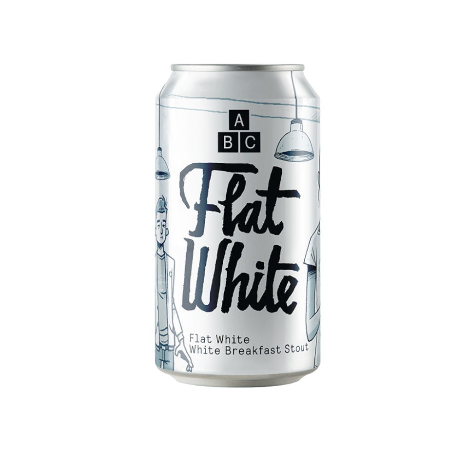 Alphabet Brewing Co, Flat White, Breakfast Stout, 7.4%, 330ml - The Epicurean