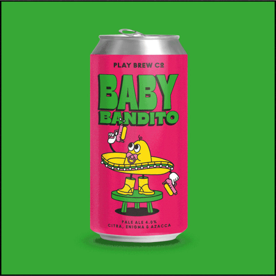 Play Brew Co, Baby Bandito, Pale Ale, 4.0%, 440ml
