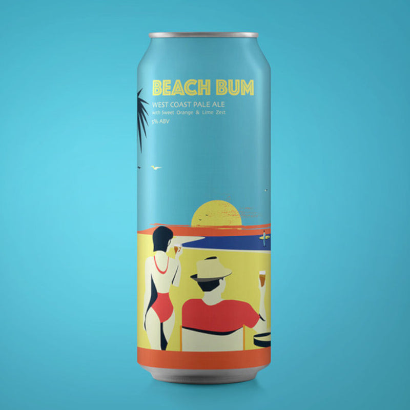 Beatnikz Republic, Beach Bum, West Coast Pale, 5.0%, 440ml - The Epicurean