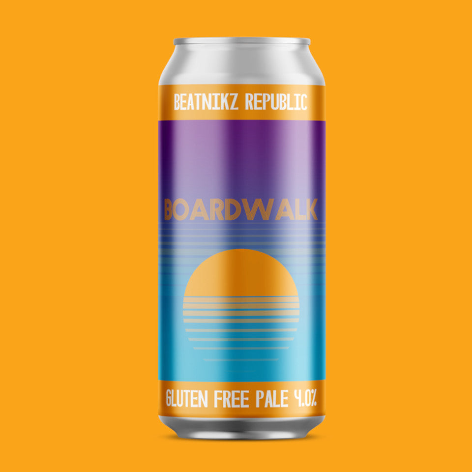Beatnikz Republic, Boardwalk, Gluten Free Pale, 4.0%, 440ml - The Epicurean