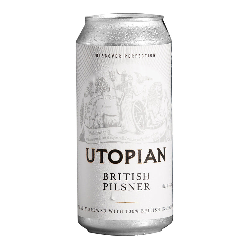 Utopian, British Pilsner Lager, 4.4%, 440ml