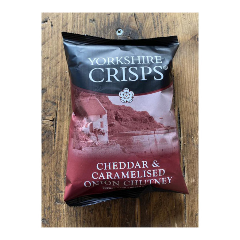 Yorkshire Crisps, Cheddar & Caramelised Onion Chutney Flavoured Crisps