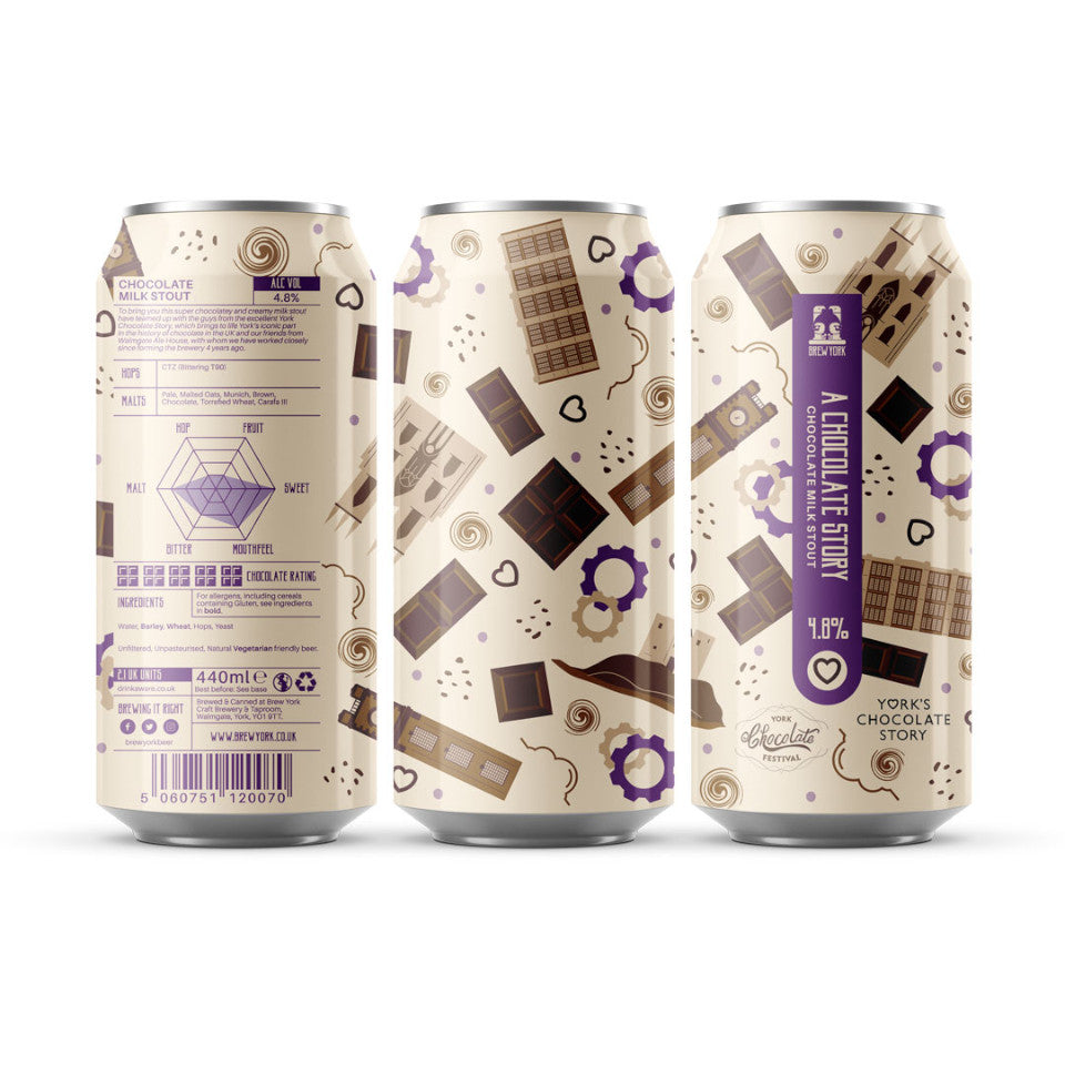 Brew York, A Chocolate Story, Chocolate Stout, 4.8%, 440ml - The Epicurean
