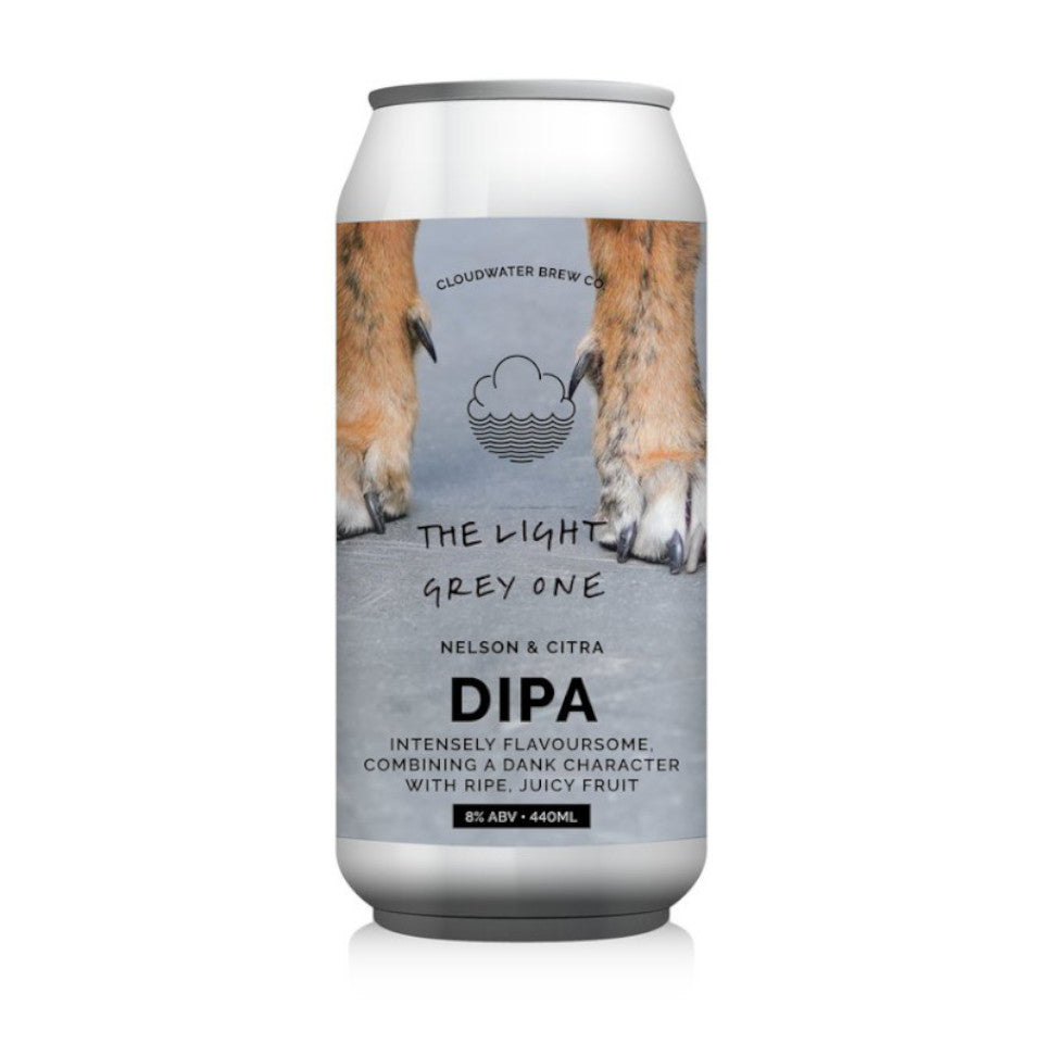 Cloudwater, The Light Grey One, DIPA, 8.0%, 440ml - The Epicurean