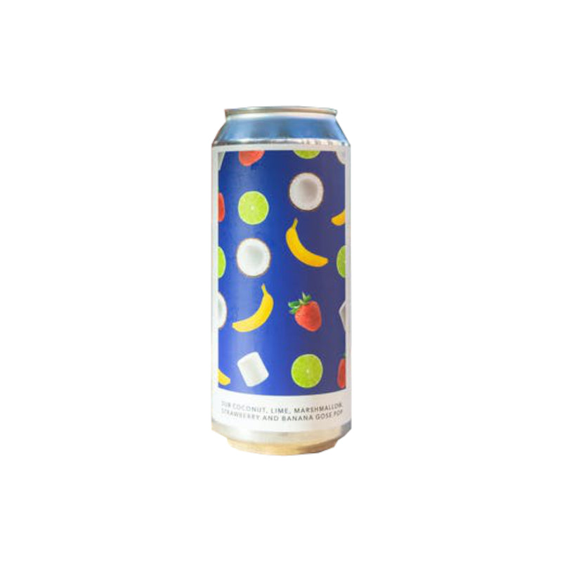 Evil Twin New York, Coconut, Lime, Marshmallow, Strawberry & Banana Gose Pop, Fruited Sour, 6.6%, 440ml - The Epicurean