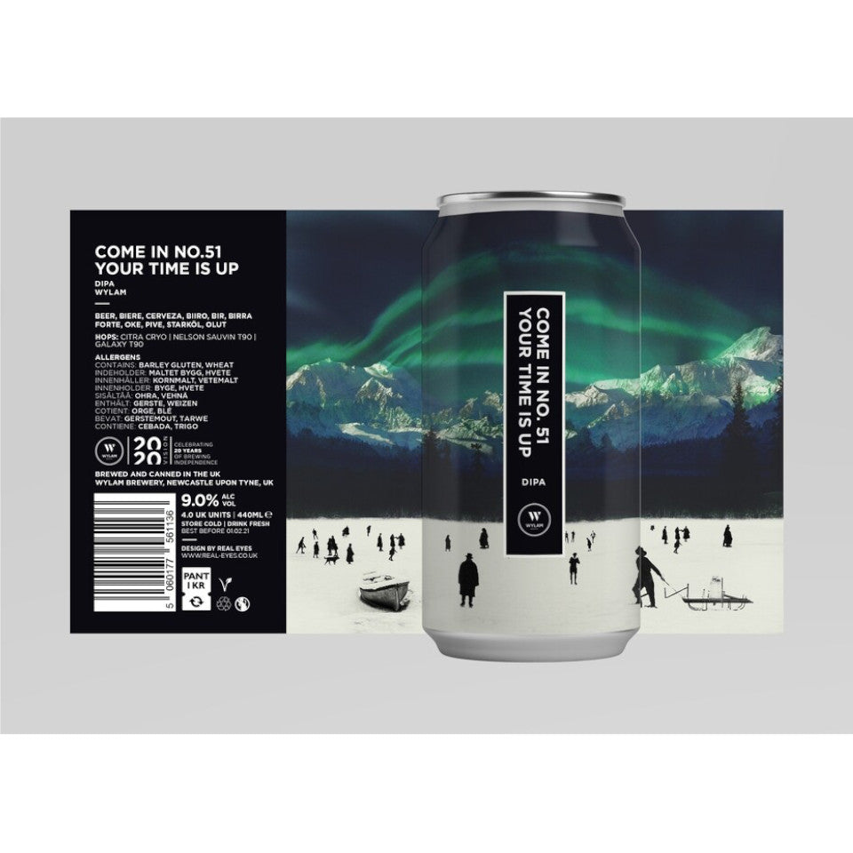 Wylam, Come In No 51 Your Time Is Up, DIPA, 9.0%, 440ml