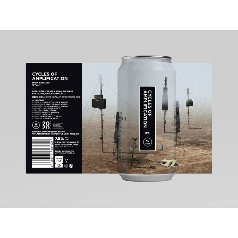 Wylam, Cycles of Amplification, IPA, 7.5%, 440ml - The Epicurean