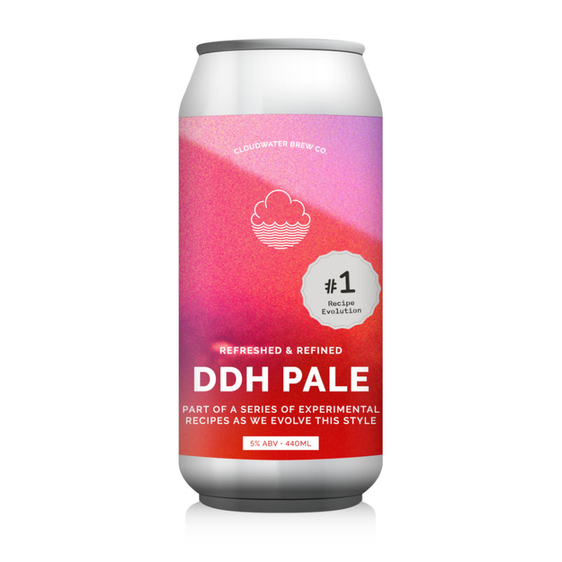 Cloudwater, DDH Pale Recipe Evolution #1, Refreshed & Refined DDH Pale, 5.0%, 440ml