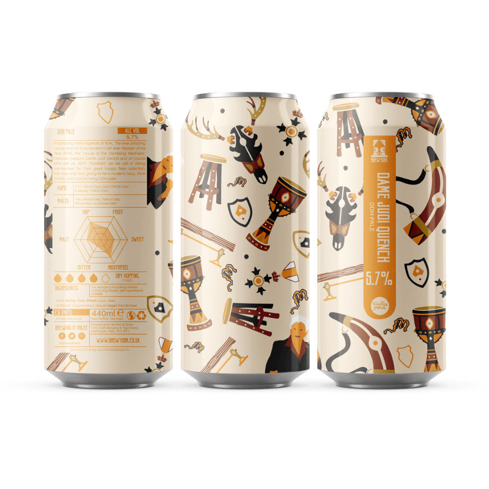 Brew York, Dame Judi Quench, DDH Pale Ale, 5.7%, 440ml