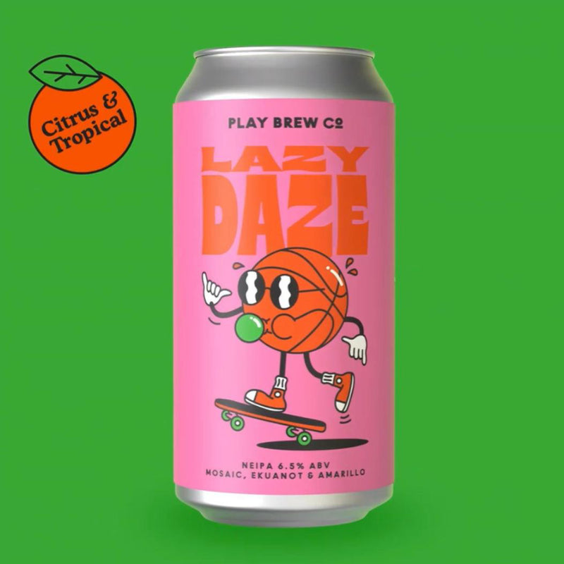 Play Brew Co, Lazy Daze, NEIPA, 6.5%, 440ml - The Epicurean