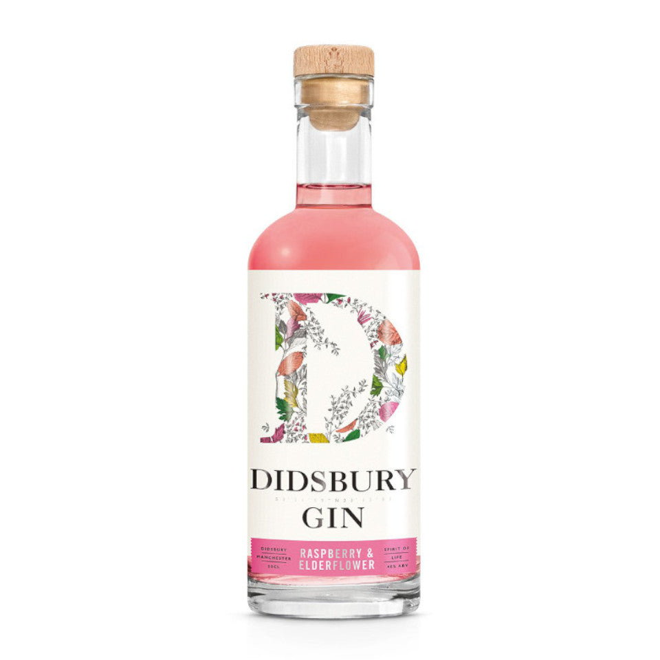 Didsbury Gin - Raspberry & Elderflower, 40%, 50cl - The Epicurean