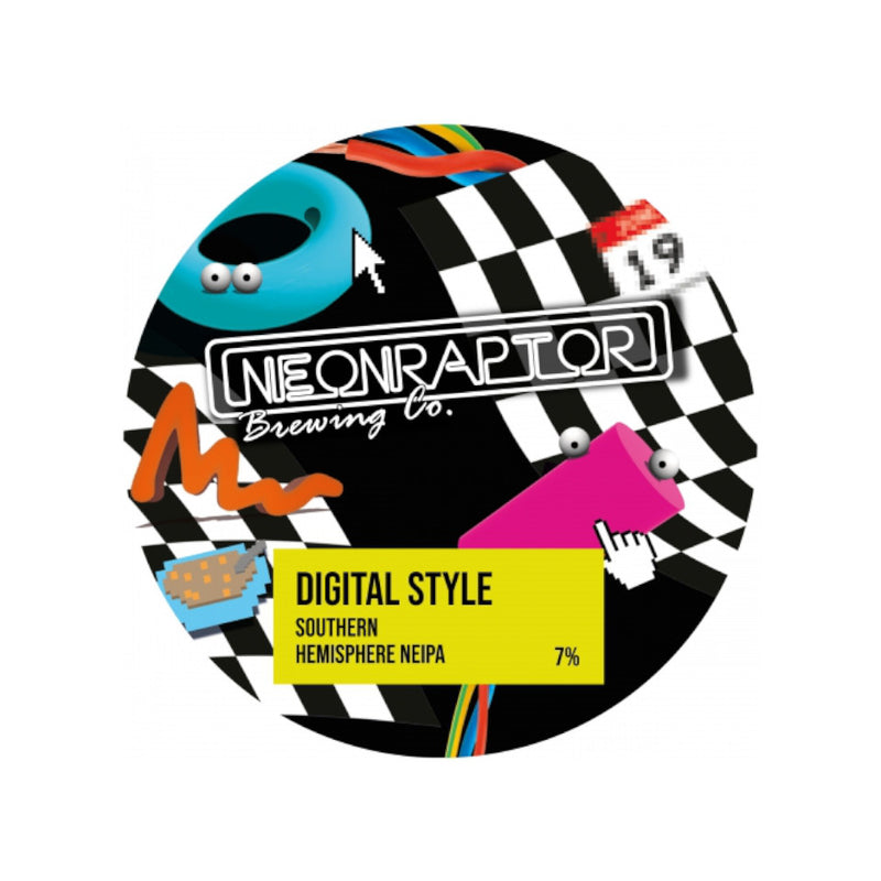 Neon Raptor, Digital Style, New England IPA, 7.0%, 440ml
