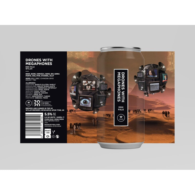 Wylam, Drones With Megaphones, DDH Pale Ale, 5.5%, 440ml - The Epicurean