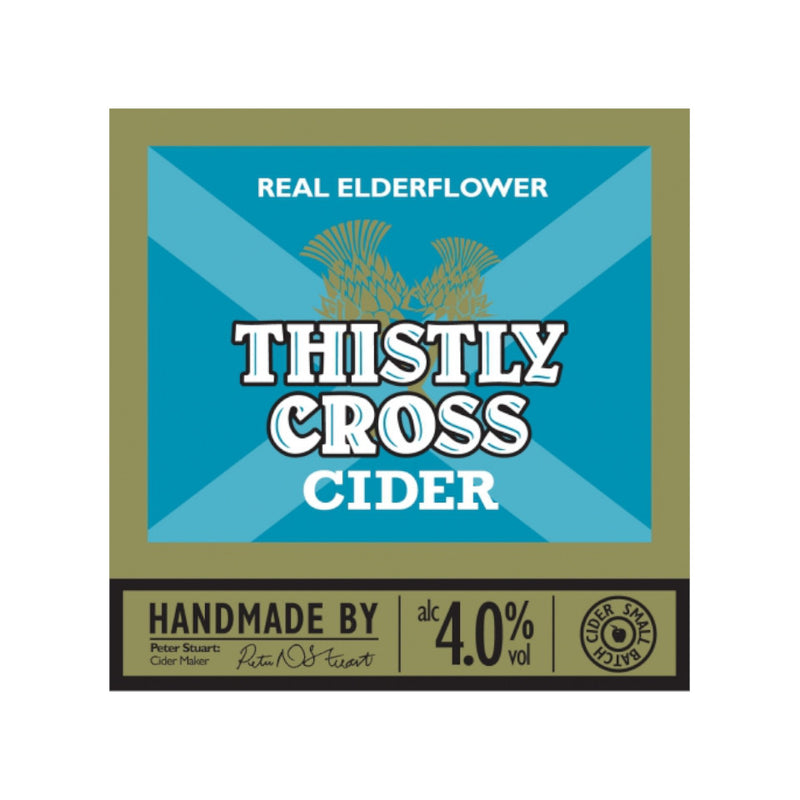 Thistly Cross Cider, Real Elderflower Cider, 4.0%, 500ml - The Epicurean