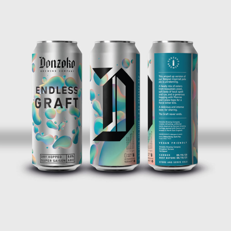 Donzoko, Endless Graft, Dry Hopped Super Saison, 9.8%, 500ml