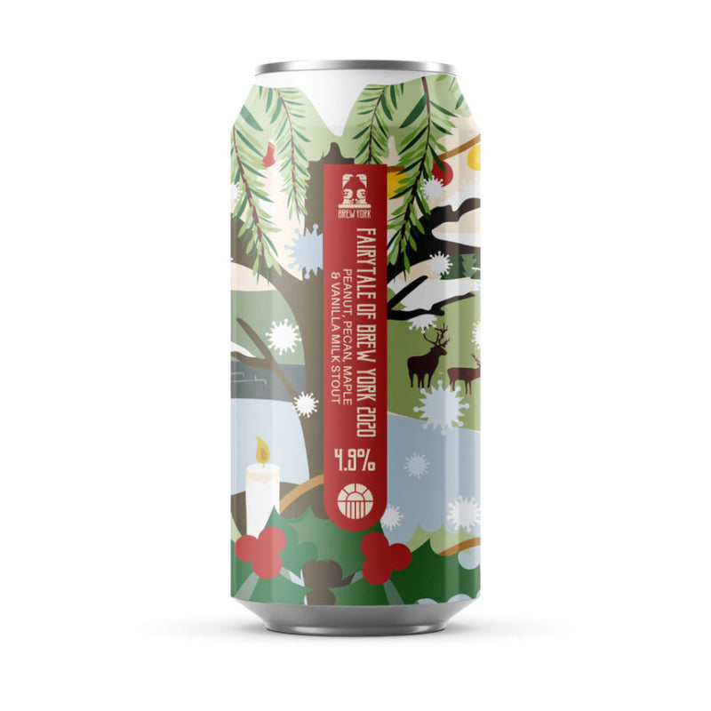 Brew York, Fairytale Of Brew York 2020, Peanut, Pecan, Maple & Vanilla Milk Stout, 4.9%, 440ml