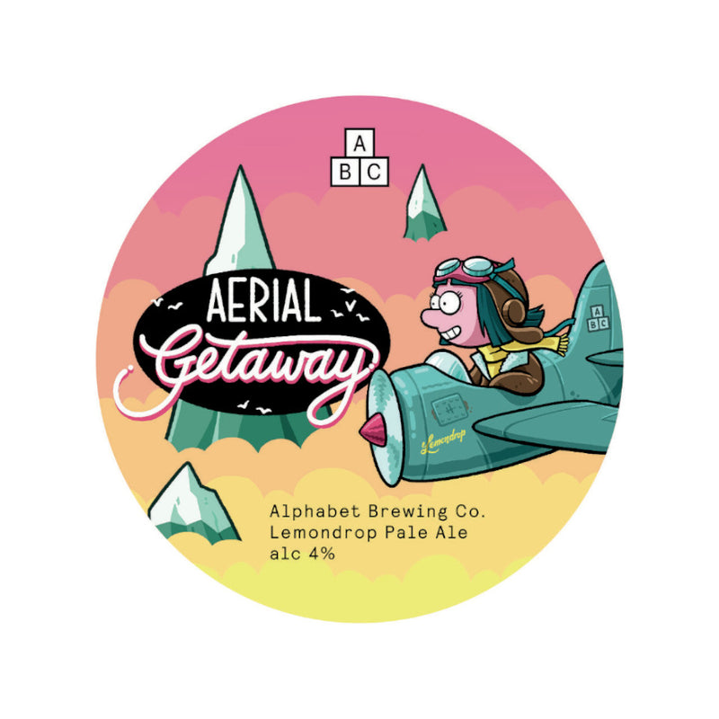 Alphabet Brewing Co, Aerial Getaway, Lemondrop Pale Ale, 4.0%, 330ml - The Epicurean