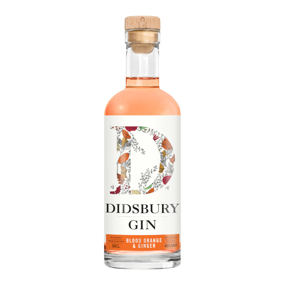 Didsbury Gin, Blood Orange & Ginger Gin, 40%, 50cl - The Epicurean