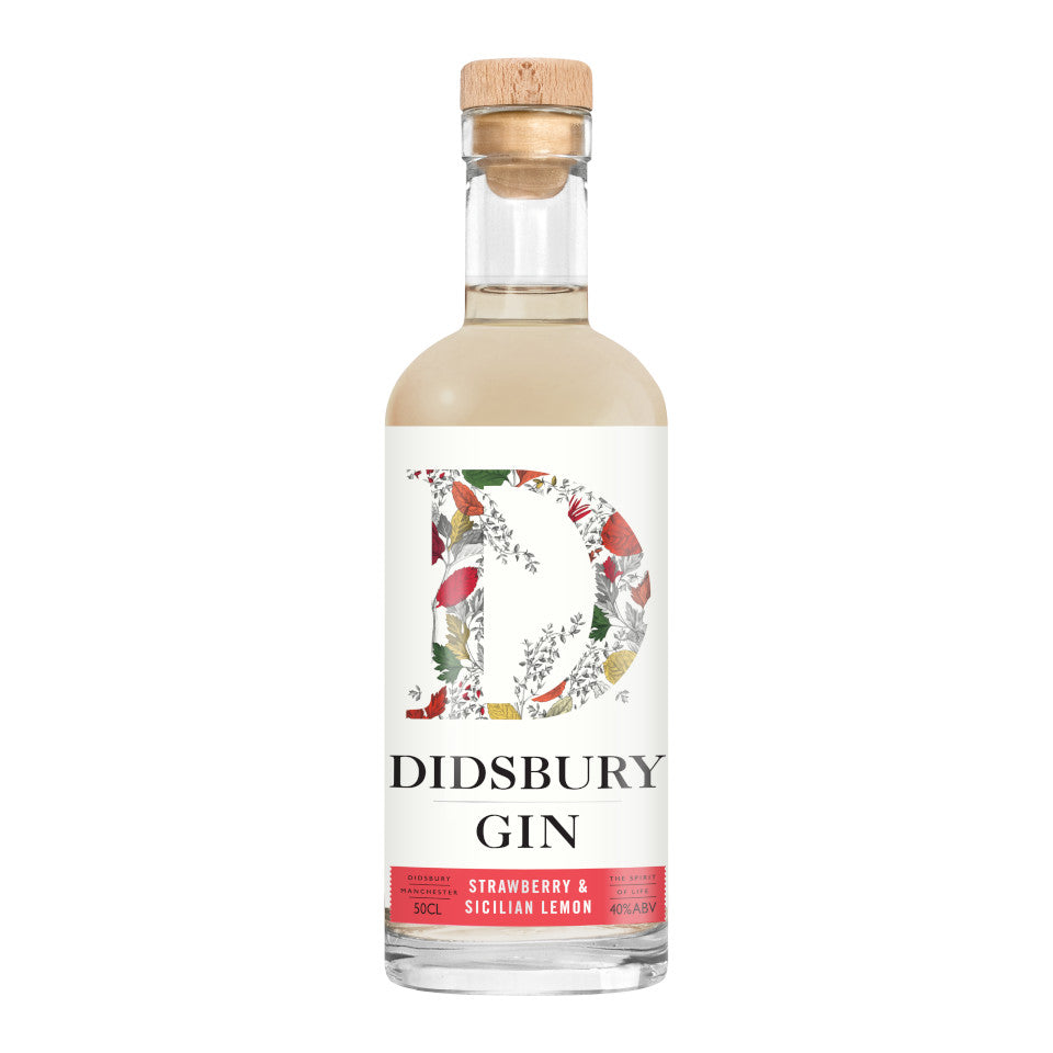 Didsbury Gin, Strawberry & Sicilian Lemon Gin, 40%, 50cl - The Epicurean