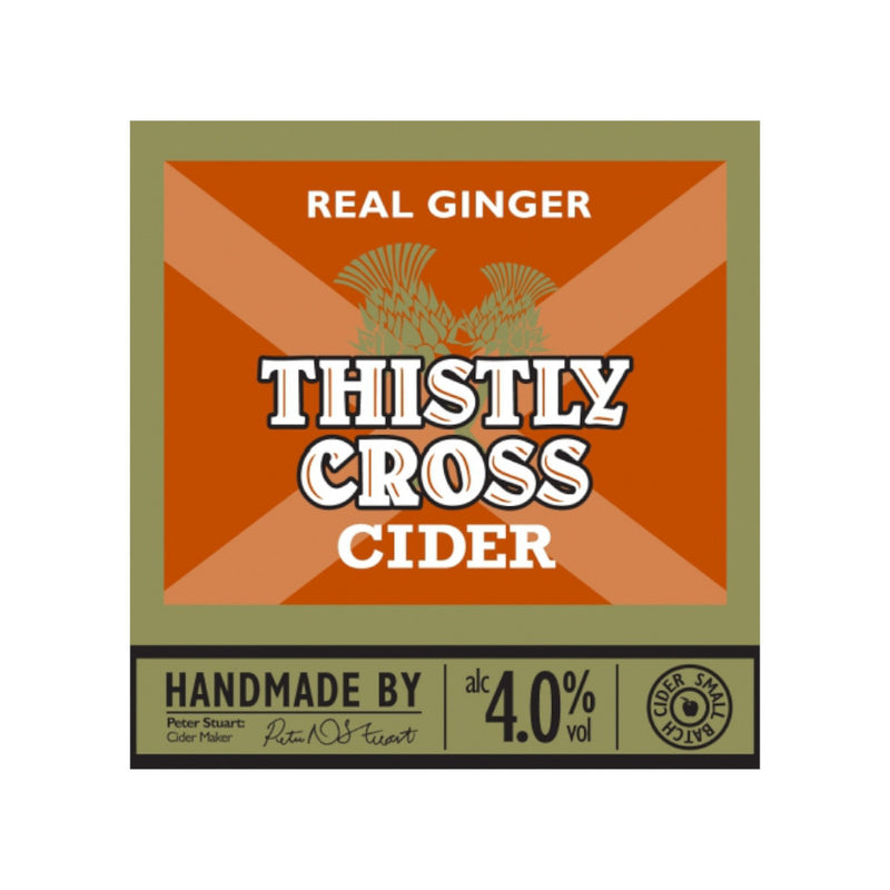 Thistly Cross Cider, Real Ginger Cider, 4.0%, 500ml - The Epicurean