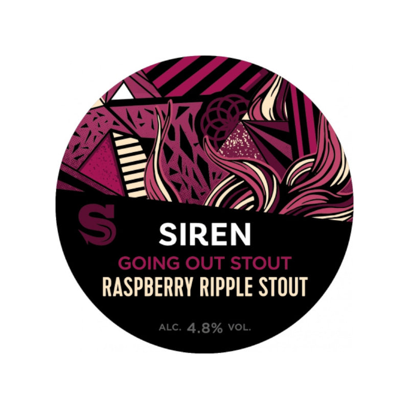 Siren Craft Brew, Going Out Stout, Raspberry Ripple Stout, 4.8%, 440ml - The Epicurean