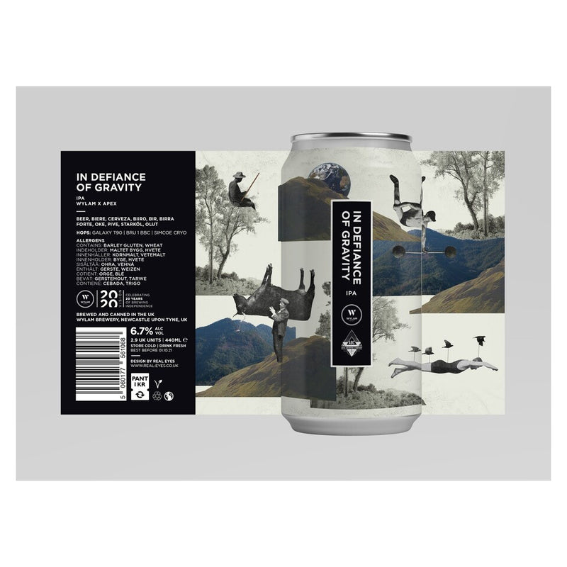 Wylam, In Defence Of Gravity, IPA, 6.7%, 440ml - The Epicurean