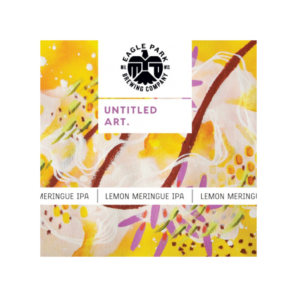 Untitled Art, Lemon Meringue, IPA with Lemons & Lactose, 7.2%, 473ml - The Epicurean