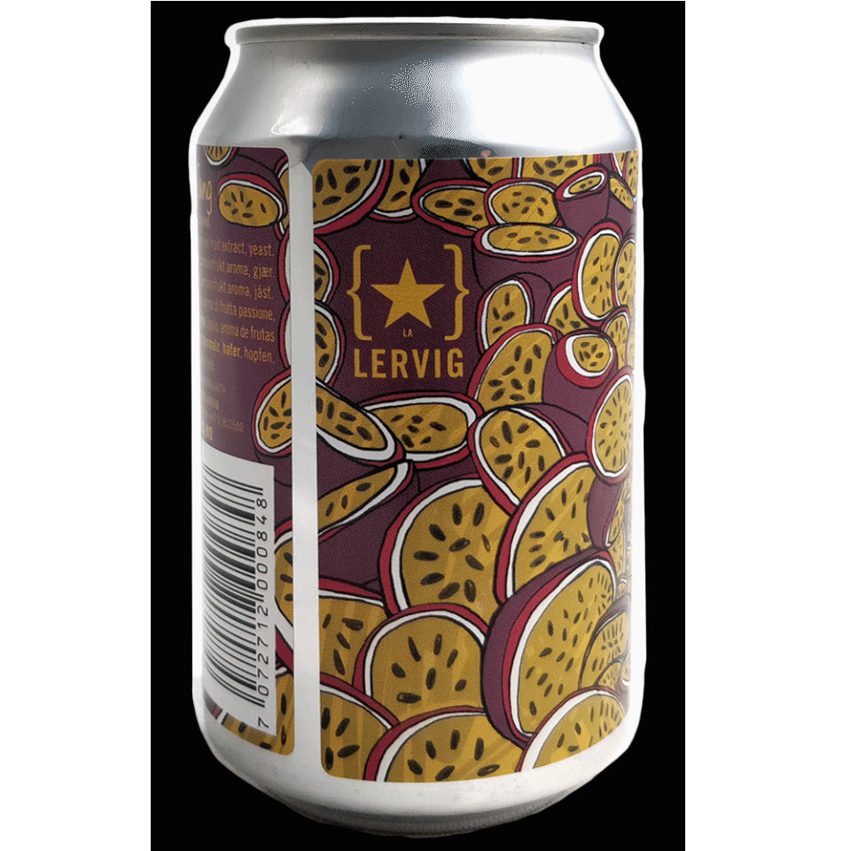 Lervig, Passion Tang, Passion Fruit Sour, 7.0%, 330ml - The Epicurean