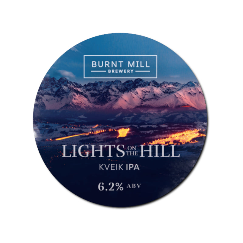 Burnt Mill, Lights on the Hill, Citra & Cashmere IPA, 6.2%, 440ml - The Epicurean