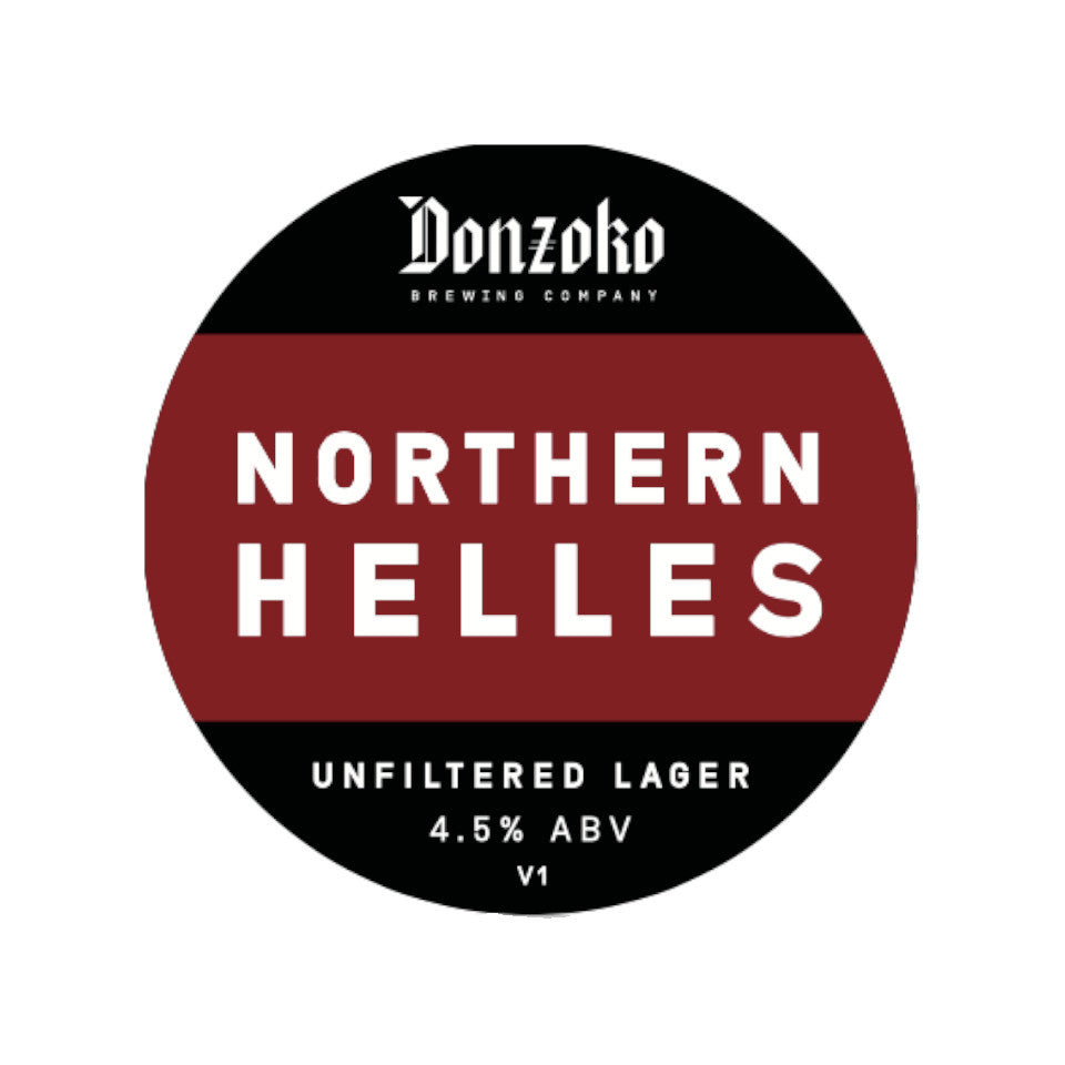 Donzoko, Northern Helles, Unfiltered Lager, 4.2%, 440ml - The Epicurean