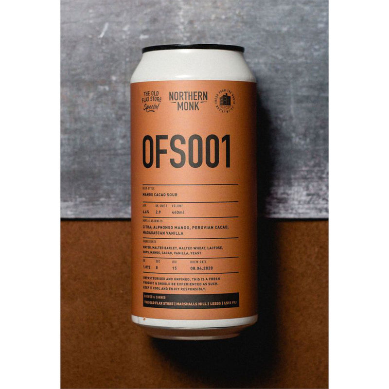 Northern Monk, OFS001, Mango & Cocao Sour, 6.6%, 440ml - The Epicurean