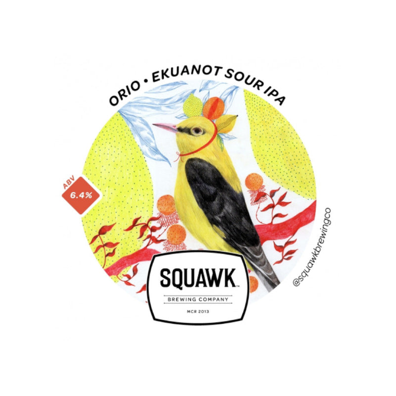 Squawk, Orio, Ekuanot Sour IPA, 6.4%, 440ml - The Epicurean