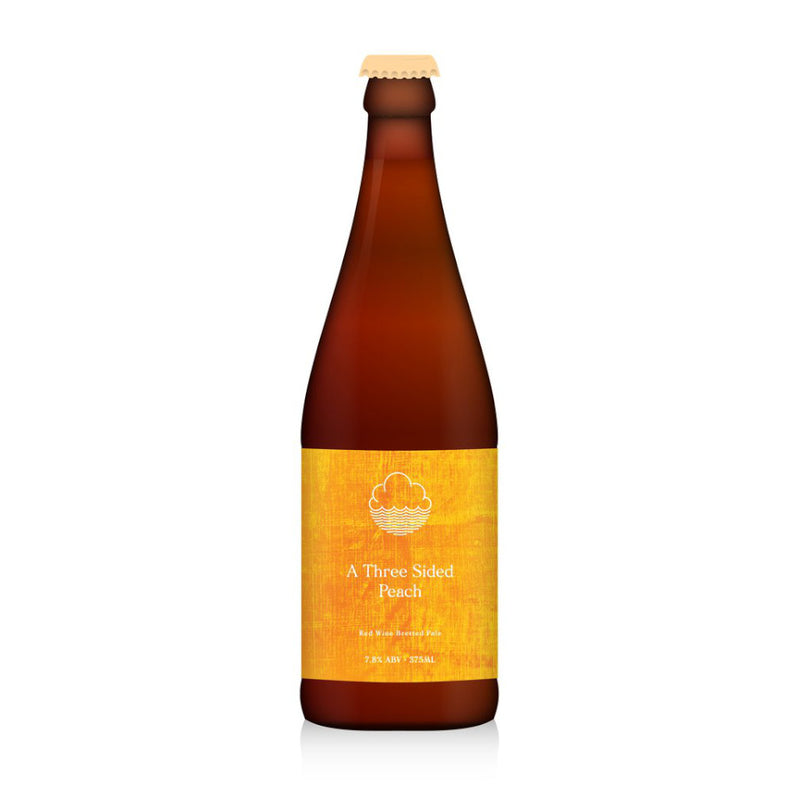 Cloudwater, Three Sided Peach, Red Wine Bretted Pale Ale with Peach, 7.8%, 375ml