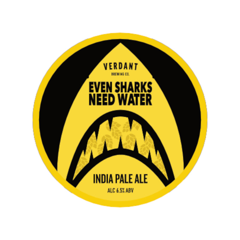Verdant, Even Sharks Need Water, IPA, 6.5%, 440ml - The Epicurean
