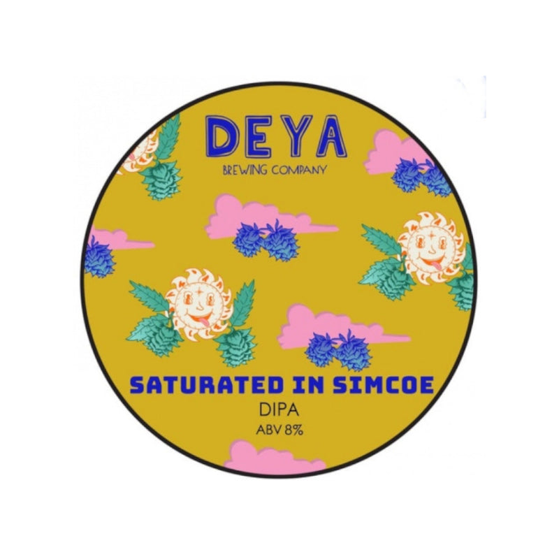 DEYA, Saturated in Simcoe, DIPA, 8.0%, 440ml - The Epicurean