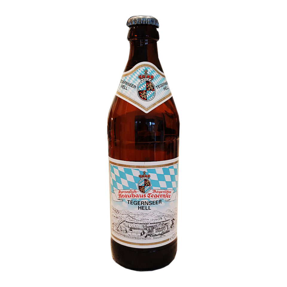 Tegernseer Hell, German Lager, 4.8%, 500ml - The Epicurean