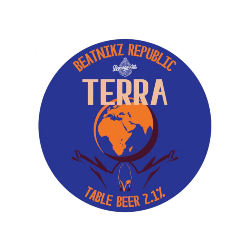 Beatnikz Republic, Terra, Table Beer, Pale Ale, 2.1%, 440ml - The Epicurean