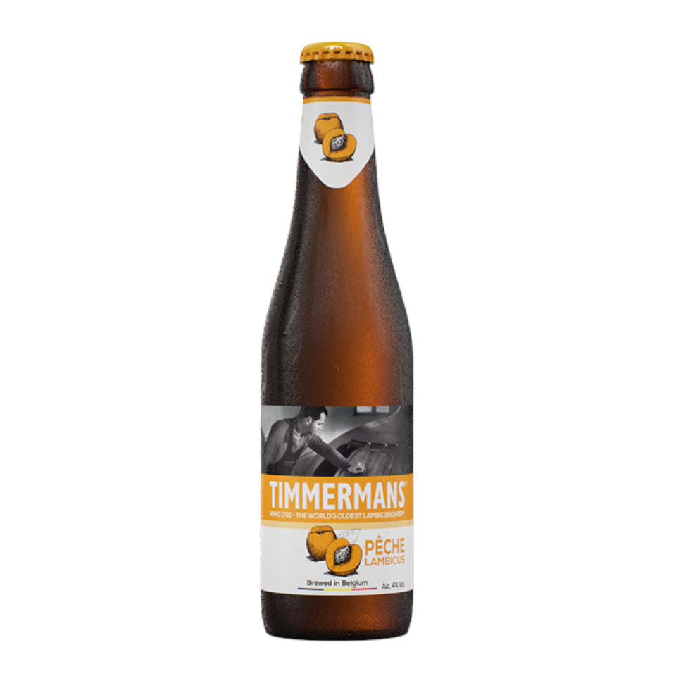 Timmermans, Peche, Peach Fruit Beer, 4.0%, 330ml - The Epicurean