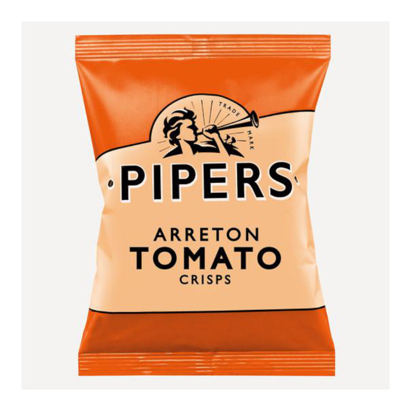 Pipers Crisps, Tomato Flavoured Crisps, 40g Bag