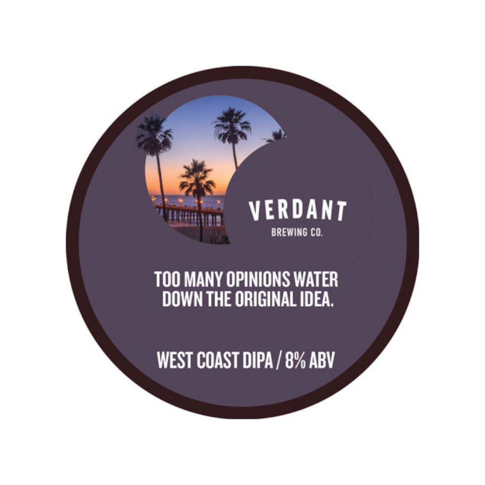 Verdant, Too Many Opinions Can Water Down the Original Idea, West Coast DIPA, 8.0%, 440ml - The Epicurean