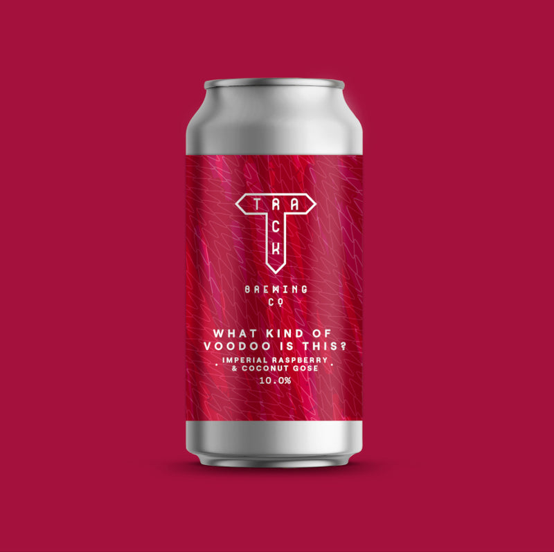 Track Brewing Co, What Kind Of Voodoo Is This, Imperial Raspberry & Coconut Gose, 10%, 440ml - The Epicurean