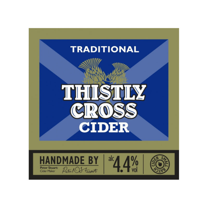 Thistly Cross Cider, Traditional Cider, 4.4%, 500ml - The Epicurean