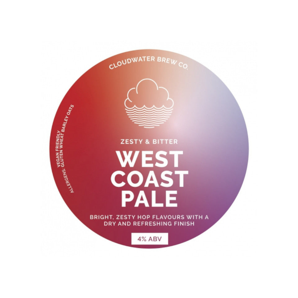 Cloudwater, West Coast Pale, Pale Ale, 4.0%, 440ml - The Epicurean