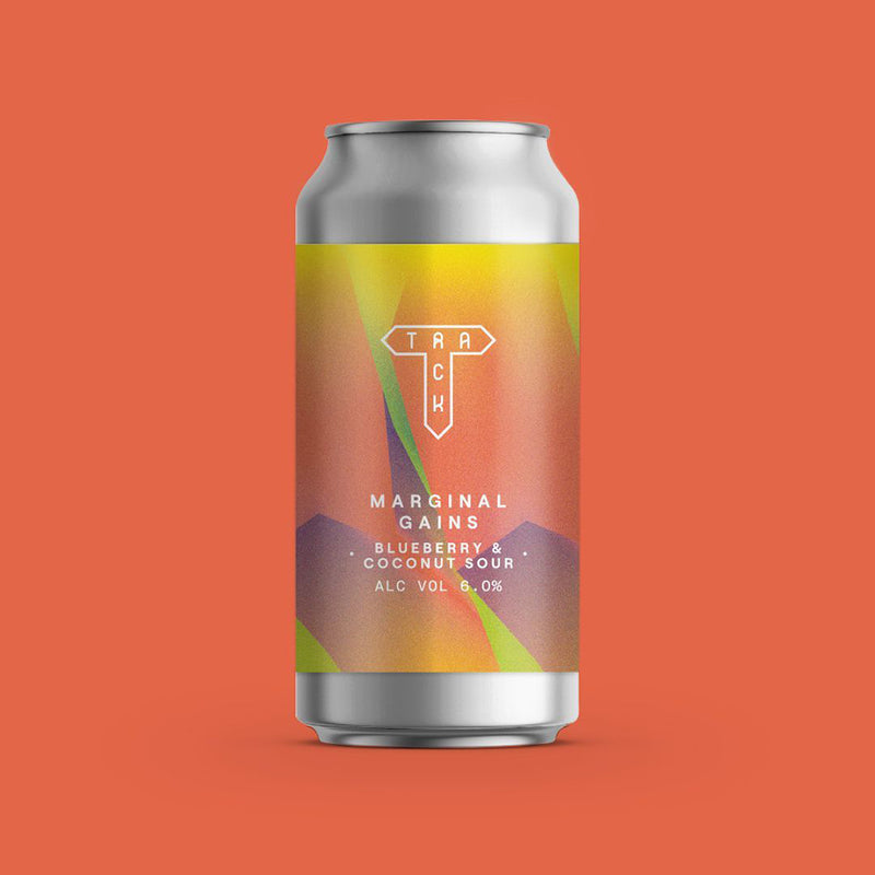 Track Brewing Co, Marginal Gains, Blueberry & Coconut Sour, 6.0%, 440ml