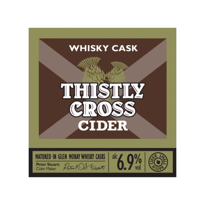 Thistly Cross Cider, Whiskey Cask Cider, 6.7%, 500ml - The Epicurean