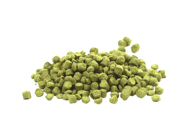 Hop Pellets Supplied in Heavy Duty Resealable Pouch - Pacific Gem 50g